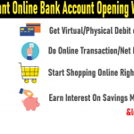 Online Bank Account Opening With Zero Balance In 10 Minutes
