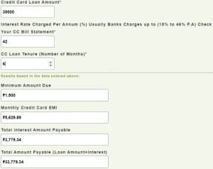 How To Use Moneycontain Credit Card EMI Calculator?