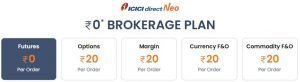 ICICIDirect neo lowest brokerage charges in India